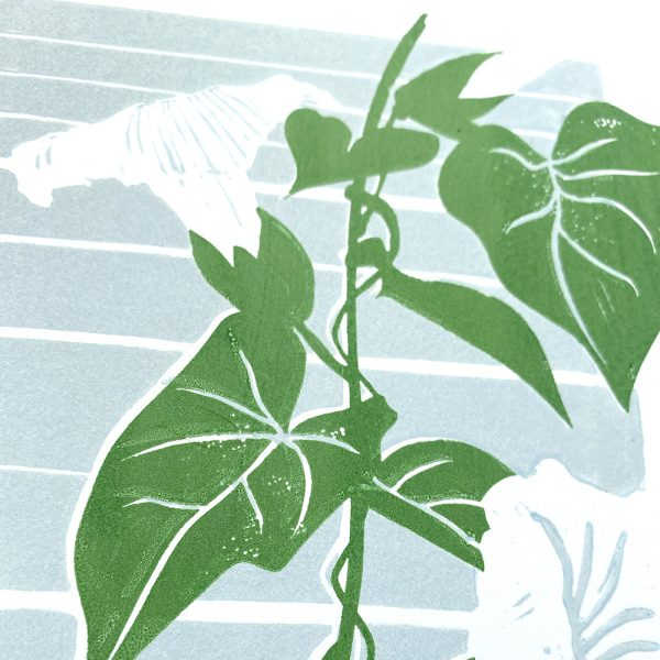 Edy & Fig 'Bindweed' A4 handmade print detail