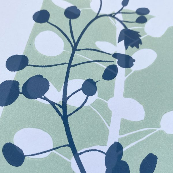 Edy & Fig 'oval leaves' A4 screen print