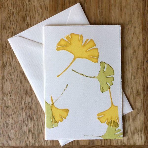 Gingko leaf gift card