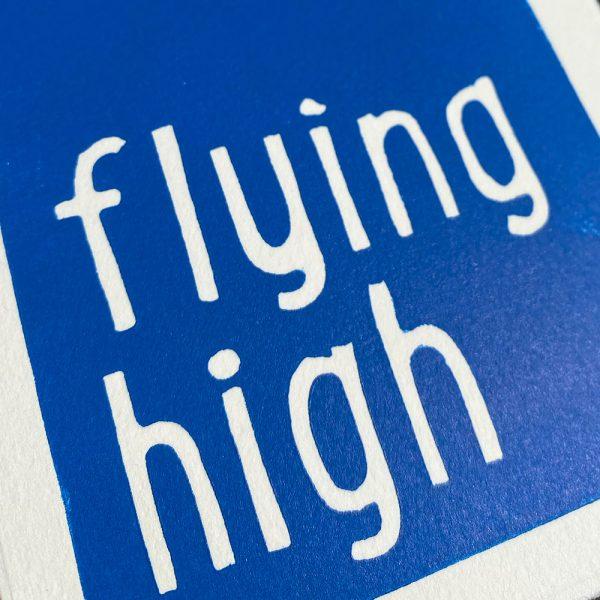 Edy & Fig 'flying high' greeting card