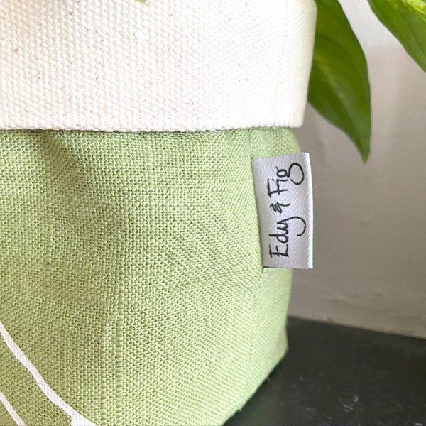 Edy & Fig Green Fabric Planter
