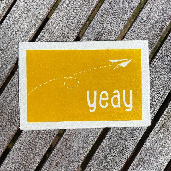 Edy & Fig 'yeay' greeting card