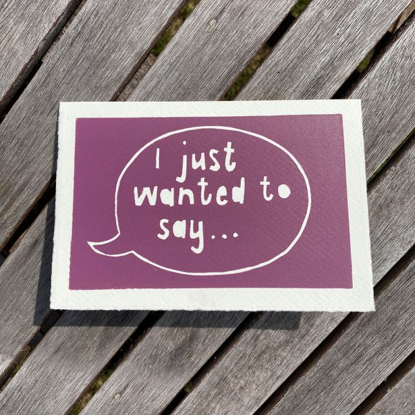 Edy & Fig - 'i just wanted to say... ' cards