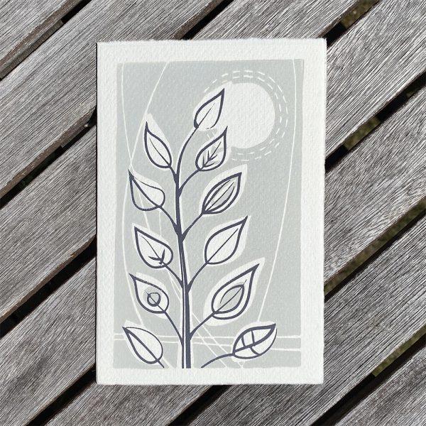 Edy & Fig - Leafy Stem greeting card
