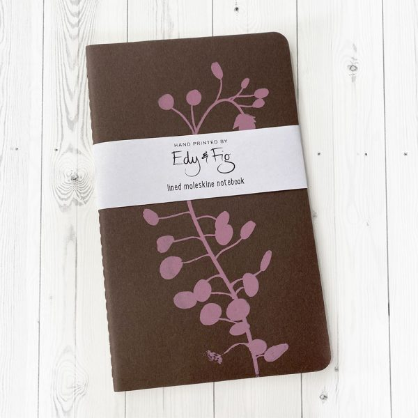 Gift wrapped, hand printed notebook UK