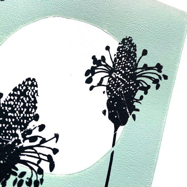 Edy & Fig - Ribwort in Moonlight A4 screen print, wall art