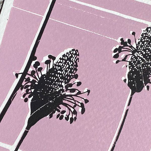 Edy & Fig nature themed screen print, made in Kent