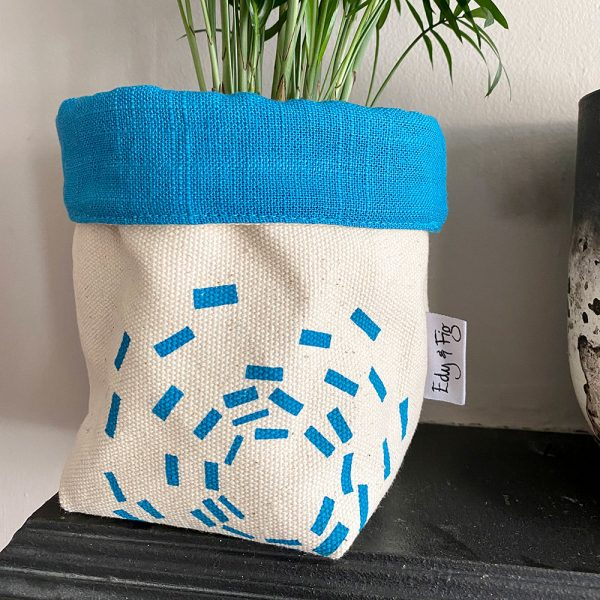 UK made fabric handprinted planter