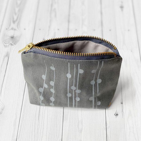 Hemp, organic cotton & Lyocell coin purse, handmade in the UK