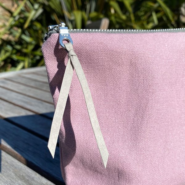 Ethical fabric make-up bag made in the UK with HappyHide