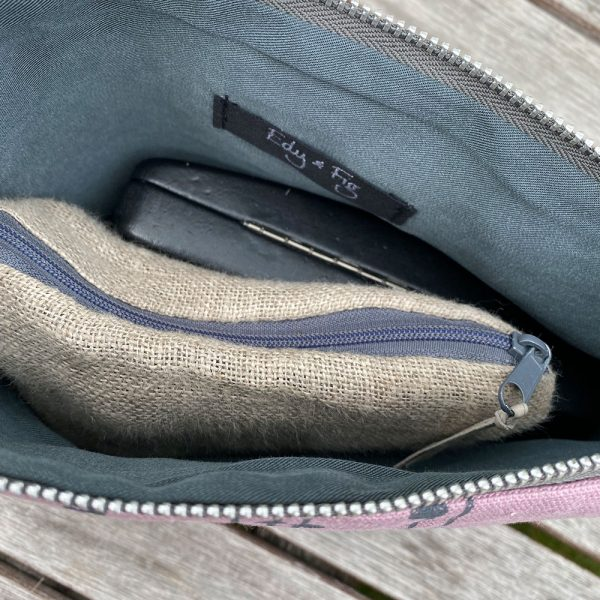 Handmade ethical fabric clutch bag