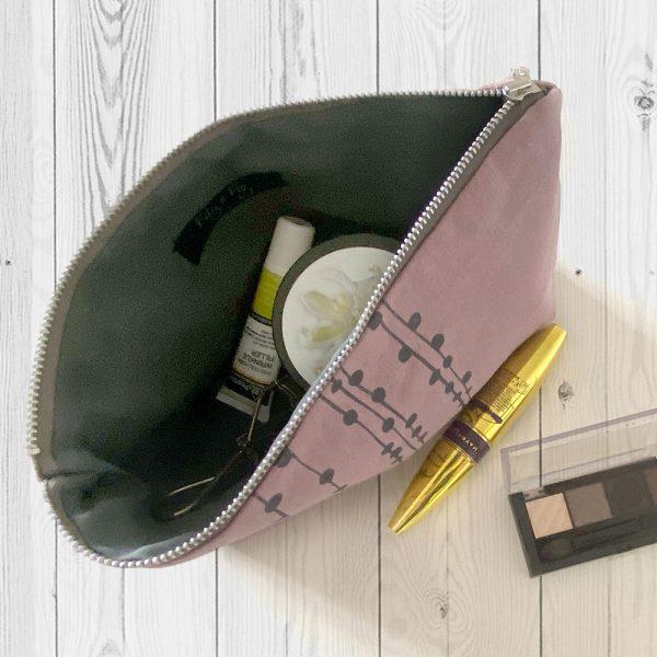 Handmade vegan make-up bag