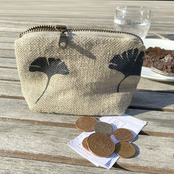 Organic hemp coin purse made in the UK