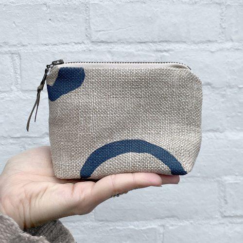 Organic vegan coin purse made from hemp